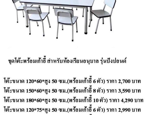 ชุดโต๊ะอนุบาลกลุ่ม