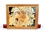 ของขวัญปีใหม่ให้ผู้ใหญ่ ของฝาก ของที่ระลึก ของตกแต่งไทยๆ กรอบรูปลายรดน้ำ ลงรักปิดทองคำเปลวแท้ 100