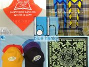 BLUE HANKY ผลิตผ้าพันคอ ผ้าเช็ดหน้าผืนใหญ่ ผ้ากีฬาสี ผ้าสามเหลี่ยม ผ้าลูกเสือ