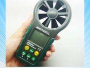 เครื่องวัดความเร็วลม มิเตอร์วัดความเร็วลม เครื่องวัดลมใบพัดในตัว MS6252A Digital Anemometer Air-Velo