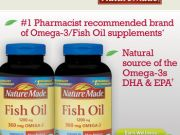 nature made Fish Oil 1200 mg360mg omega 3 200 softgelsบำรุงสมอง