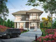 แบบบ้านสองชั้น แบบบ้านรีสอร์ท สไตล์หวานๆ 3 ห้องนอน RE-H2-501220