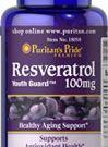puritan RESVERATROL 100 mg120 softgel ต้านอนุมูลอิสระ ช่วยควบคุมน้ำหนัก