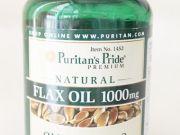 puritan Flax Oil 1000 mg120 softgelswith omega3-6-9แฟล็กซีดออยด์ส่งฟรี