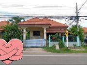 บ้านเดี่ยว,ทำเลดี,ติดถนน ,หมู่บ้านพรรณธิกา ,บุรีรัมย์