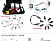 E-POWER multi-function jump starter อุปกรณ์ชาร์แบตเตอรี่พกพามาพร้อมกับกระเป๋าและอุปกรณ์เชื่อมต่อครบช