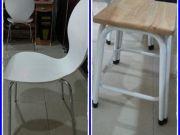 ขายเก้าอี้ มีพนักพิง สีขาว ขาเหล็ก ราคาตัวละ 1000 บาท มี 4 ตัว ต่อรองได้ สภาพดีเยี่ยมขายเก้าอี้ไม้ ข