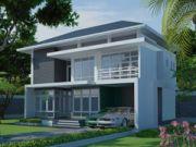 รับเหมาก่อสร้าง แบบบ้านสองชั้น MODERN 3ห้องนอน 3ห้องน้ำ 220 ตรม MO-H2-22002