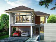 บริษัทรับสร้างบ้าน แบบบ้านสองชั้น TROPICAL 3ห้องนอน 3ห้องน้ำ 2220 ตรม TR-H2-103
