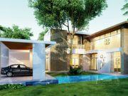 รับเหมาก่อสร้าง แบบบ้านสองชั้น MODERN 4ห้องนอน 5ห้องน้ำ 430 ตรม MO-H2-301