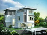 รับสร้างบ้านหรู แบบบ้าน 3 ชั้น TROPICAL 7ห้องนอน 5ห้องน้ำ 6180 ตรม TR-H3-601