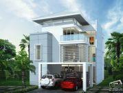 รับสร้างบ้าน แบบบ้าน 3 ชั้น TROPICAL 5ห้องนอน 5ห้องน้ำ 451 ตรม TR-H3-603