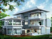 รับสร้างบ้าน แบบบ้าน 3 ชั้น TROPICAL 5ห้องนอน 5ห้องน้ำ 605 ตรม TR-H3-605