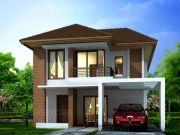 บริษัทรับสร้างบ้าน แบบบ้านสองชั้น TROPICAL 3ห้องนอน 3ห้องน้ำ 123 ตรม TR-H2-106