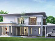 รับเหมาก่อสร้างบ้าน แบบบ้านสองชั้น MODERN 3ห้องนอน 3ห้องน้ำ 286 ตรม MO-H2-2860203