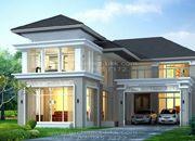 รับสร้างบ้านหรู แบบบ้านสองชั้น MODERN 5ห้องนอน 6ห้องน้ำ 483 ตรม CO-H2-4830103