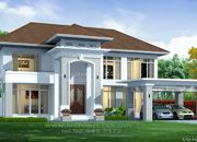 รับเหมาก่อสร้าง แบบบ้านสองชั้น CONTEMPORARY 5ห้องนอน 6ห้องน้ำ 551 ตรม CO-H2-5510103