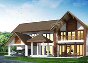 รับเหมาก่อสร้างบ้าน แบบบ้านสองชั้น TROPICAL 3ห้องนอน 3ห้องน้ำ 309 ตรม TR-H2-3090103