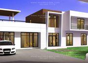 รับสร้างบ้านคุณภาพสูง แบบบ้านสองชั้น MODERN 4ห้องนอน 5ห้องน้ำ 629 ตรม MO-H2-6290103