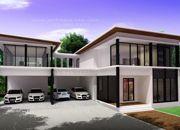 ขายแบบบ้าน แบบบ้านสองชั้น MODERN 3ห้องนอน 3ห้องน้ำ 395 ตรม MO-H2-3950103