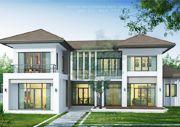 บริษัทรับสร้างบ้าน แบบบ้านสองชั้น TROPICAL 5ห้องนอน 4ห้องน้ำ 314 ตรม TR-H2-31404