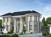 บริษัทรับสร้างบ้าน แบบบ้านสองชั้น CLASSIC 4ห้องนอน 4ห้องน้ำ 444 ตรม CL-H2-4440104