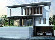 รับเหมาก่อสร้างบ้าน แบบบ้าน 3 ชั้น MODERN 4ห้องนอน 5ห้องน้ำ 654 ตรม MO-H3-6540104