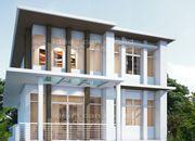 รับเหมาก่อสร้าง แบบบ้าน 3 ชั้น MODERN 4ห้องนอน 3ห้องน้ำ 339 ตรม MO-H3-3390104