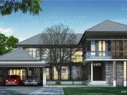 รับสร้างบ้าน แบบบ้านสองชั้น TROPICAL 4ห้องนอน 6ห้องน้ำ 505 ตรม RE-H2-50504