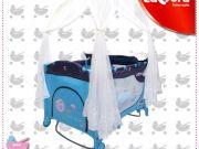 เปลเพน เปลเด็ก เตียงนอนเด็ก2ชั้น รุ่น537มุ้งกระโจม โยกได้ พับเก็บได้พร้อมกระเป๋าเก็บCamera Baby Plan