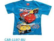 เสื้อผ้าเด็กราคาถูก - เสื้อคอกลมเด็ก ลายคาร์ CAR-1197-BU เริ่มที่ 160 บาท