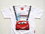 เสื้อผ้าเด็กราคาถูก - เสื้อคอกลมเด็ก CARS CAR-509-WH เริ่มที่ 180 บาท