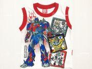 เสื้อผ้าเด็กราคาถูก - เสื้อแขนกุดเด็ก ลาย Transformer TFM-292-RE เริ่มที่ 120 บาท