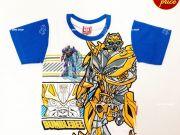 เสื้อผ้าเด็กราคาถูก - เสื้อคอกลมเด็ก ลาย Transformer TFM-275-WHBL เริ่มที่ 150 บาท
