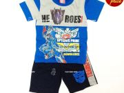 เสื้อผ้าเด็กราคาถูก - ชุดเซ็ทเด็ก Transformer TFM-228-BL เริ่มที่ 290 บาท