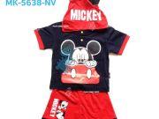 เสื้อผ้าเด็กราคาถูก - ชุดเหมือนเด็กลาย Mickey Mouse MK-5638-NV เริ่มที่ 300 บาท