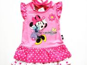เสื้อผ้าเด็กราคาถูก - ชุดแฟชั่นเด็กลาย Minnie Mouse MN-1875-PI เริ่มที่ 260 บาท