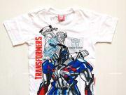 เสื้อผ้าเด็กราคาถูก - เสื้อคอกลม Transformer TFM-251-WH เริ่มที่ 140 บาท