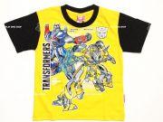 เสื้อผ้าเด็กราคาถูก - เสื้อคอกลมเด็ก ลาย Transformer TFM-314-YE เริ่มที่ 150 บาท