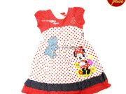 เสื้อผ้าเด็กราคาถูก - ชุดเดรส Minnie Mouse MN-1981-RE เริ่มที่ 360 บาท