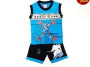 เสื้อผ้าเด็กราคาถูก - ชุดเซ็ทเด็ก Transformer TFM-307-BU เริ่มที่ 240 บาท