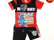 เสื้อผ้าเด็กราคาถูก - ชุดเซ็ทเด็ก Transformer TFM-228-RE เริ่มที่ 290 บาท