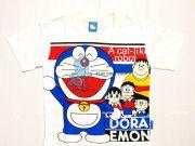 เสื้อผ้าเด็กราคาถูก - เสื้อคอกลมเด็ก ลาย โดราเอมอน DRM-2035-WH เริ่มที่ 140 บาท