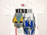 เสื้อผ้าเด็กราคาถูก - เสื้อคอกลมเด็ก ลาย Transformer TFM-252-WH เริ่มที่ 140 บาท