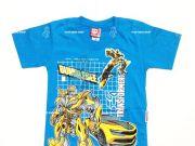 เสื้อผ้าเด็กราคาถูก - เสื้อคอกลมเด็ก ลาย Transformer TFM-227-BU เริ่มที่ 180 บาท