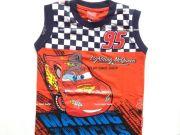 เสื้อผ้าเด็ก คุณภาพดี ราคาถูก - เสื้อแขนกุด CARS CAR-1214-OR เริ่มที่ 200 บาท