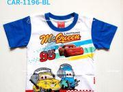 เสื้อผ้าเด็ก คุณภาพดี ราคาถูก - เสื้อคอกลมเด็ก CARS CAR-1196-BL เริ่มที่ 150 บาท