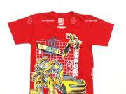 เสื้อผ้าเด็ก คุณภาพดี ราคาถูก - เสื้อคอกลมเด็ก ลาย Transformer TFM-227-RE เริ่มที่ 180 บาท