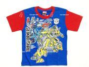 เสื้อผ้าเด็ก คุณภาพดี ราคาถูก - เสื้อคอกลมเด็ก ลาย Transformer TFM-314-BU เริ่มที่ 150 บาท