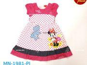 เสื้อผ้าเด็ก คุณภาพดี ราคาถูก - ชุดเดรส Minnie Mouse MN-1981-PI เริ่มที่ 360 บาท